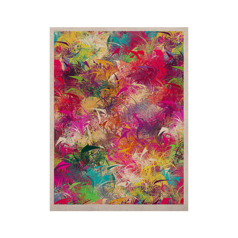 "Danny Ivan ""Splash"" Rainbow Abstract KESS Naturals Canvas (Frame not Included) - KESS InHouse  - 1"