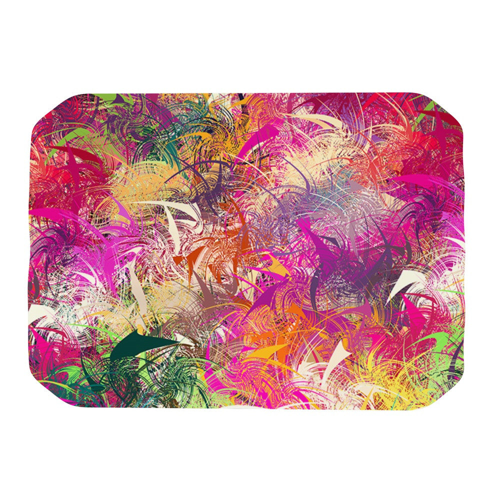 "Danny Ivan ""Splash"" Rainbow Abstract Place Mat - KESS InHouse"