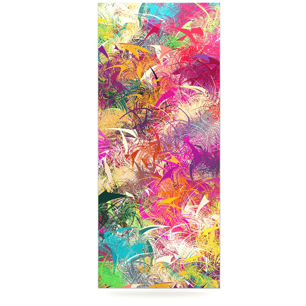 "Danny Ivan ""Splash"" Rainbow Abstract Luxe Rectangle Panel - KESS InHouse  - 1"