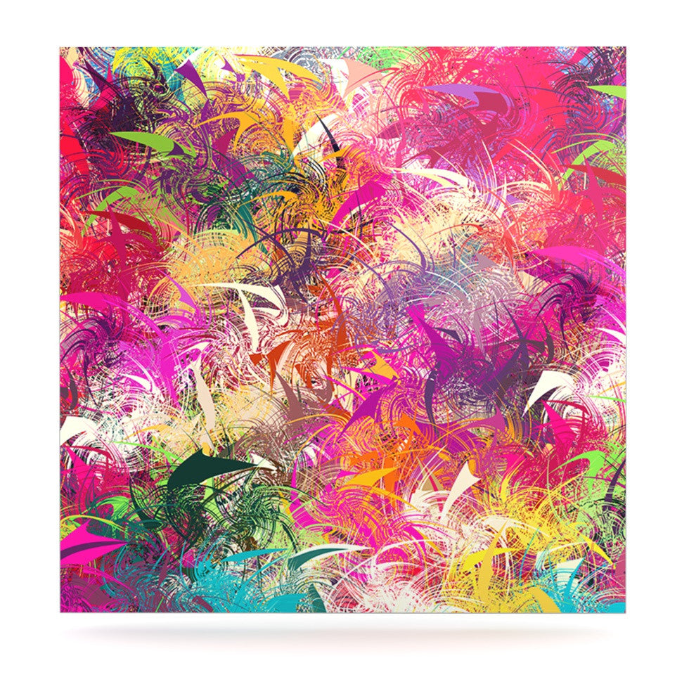 "Danny Ivan ""Splash"" Rainbow Abstract Luxe Square Panel - KESS InHouse  - 1"