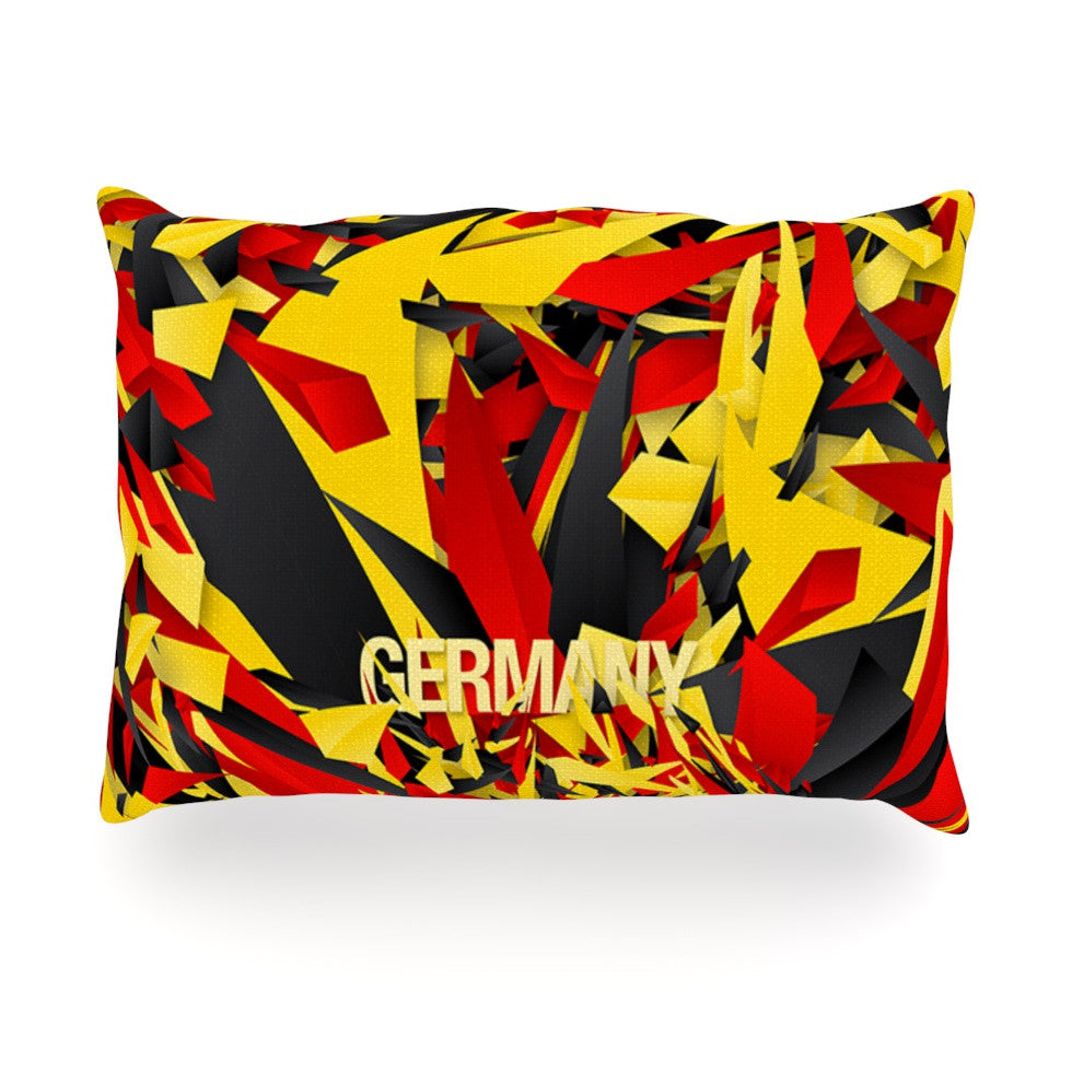 "Danny Ivan ""Germany"" World Cup Oblong Pillow - KESS InHouse"