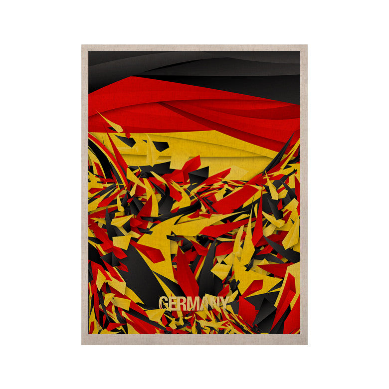 "Danny Ivan ""Germany"" World Cup KESS Naturals Canvas (Frame not Included) - KESS InHouse  - 1"