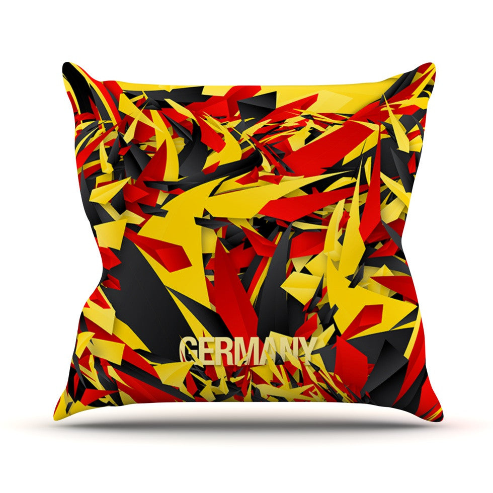 "Danny Ivan ""Germany"" World Cup Outdoor Throw Pillow - KESS InHouse  - 1"