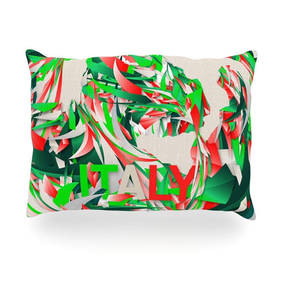 "Danny Ivan ""Italy"" World Cup Oblong Pillow - KESS InHouse"