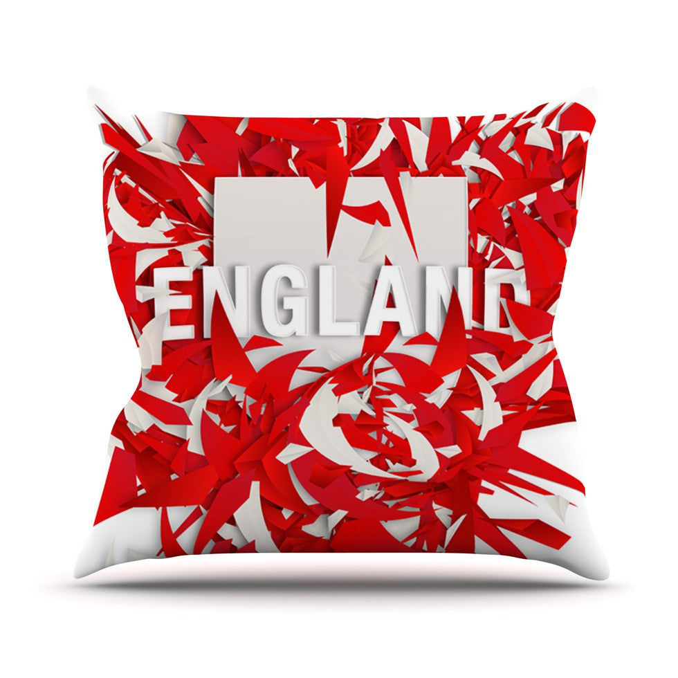 "Danny Ivan ""England"" World Cup Throw Pillow - KESS InHouse  - 1"