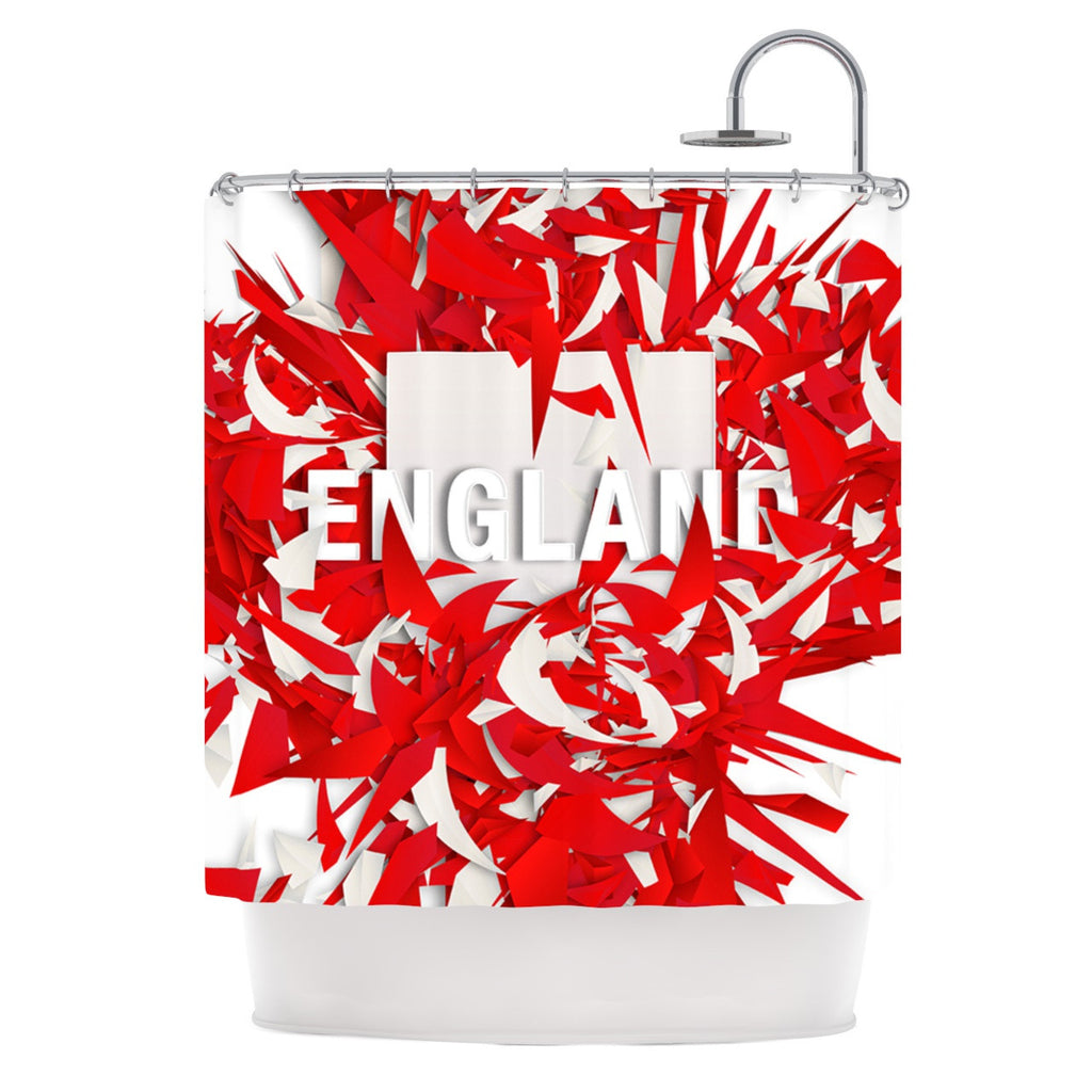"Danny Ivan ""England"" World Cup Shower Curtain - KESS InHouse"