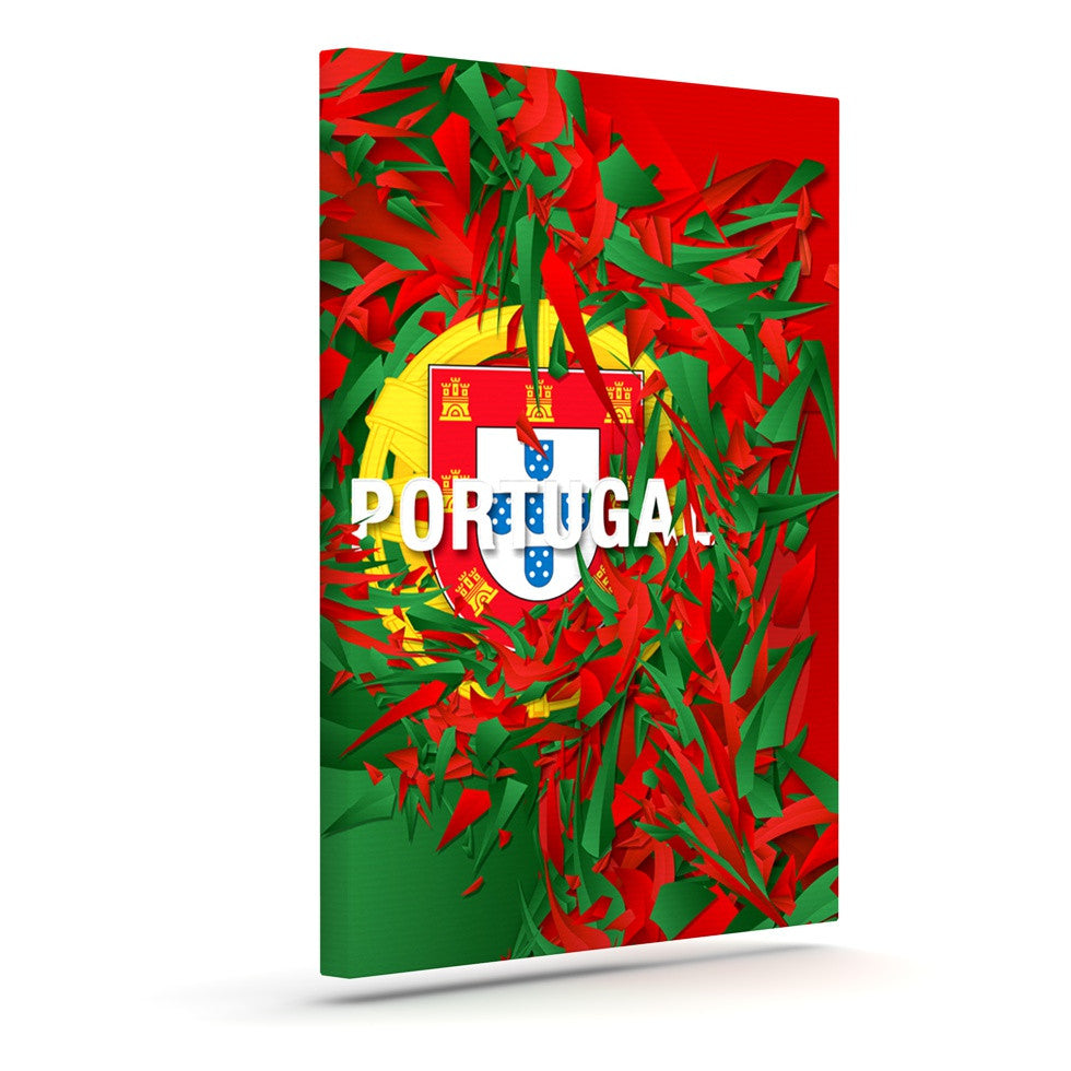 "Danny Ivan ""Portugal"" World Cup Canvas Art - KESS InHouse  - 1"