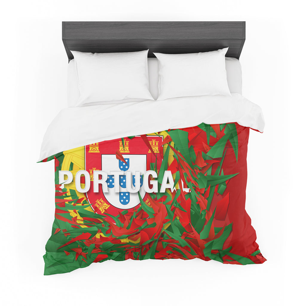 "Danny Ivan ""Portugal"" World Cup Featherweight Duvet Cover"