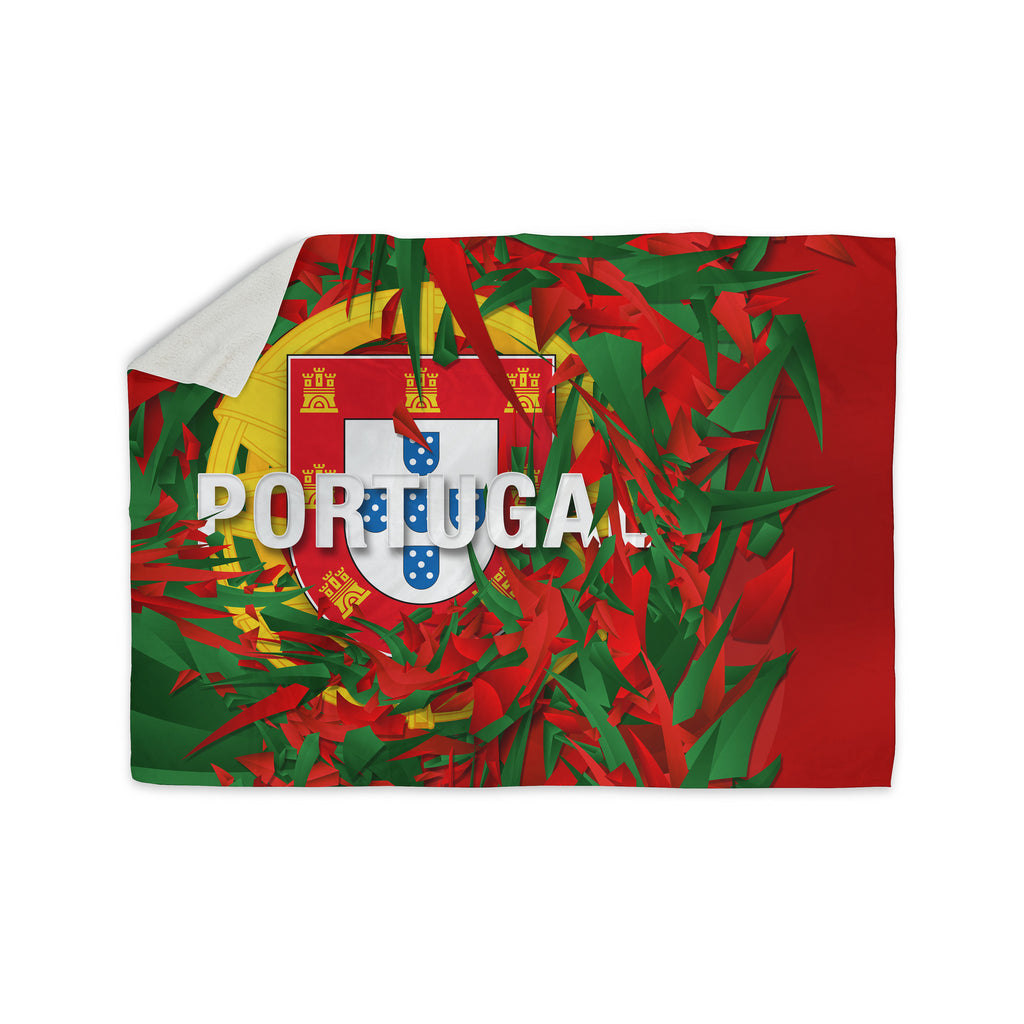 "Danny Ivan ""Portugal"" World Cup Sherpa Blanket - KESS InHouse  - 1"