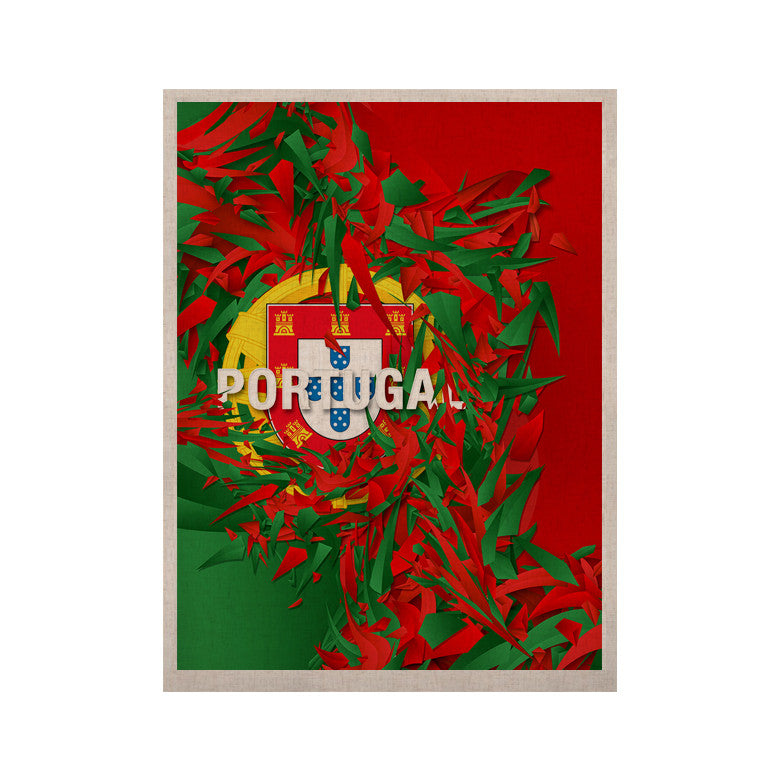 "Danny Ivan ""Portugal"" World Cup KESS Naturals Canvas (Frame not Included) - KESS InHouse  - 1"