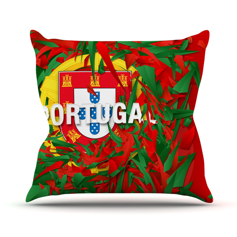 "Danny Ivan ""Portugal"" World Cup Outdoor Throw Pillow - KESS InHouse  - 1"