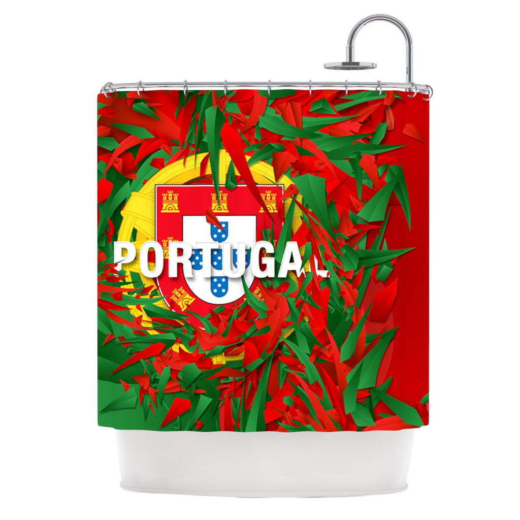 "Danny Ivan ""Portugal"" World Cup Shower Curtain - KESS InHouse"