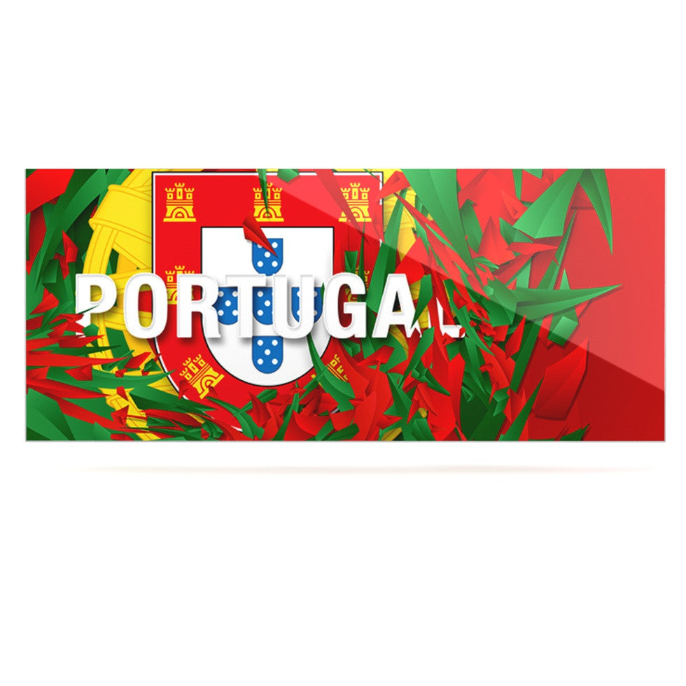 "Danny Ivan ""Portugal"" World Cup Luxe Rectangle Panel - KESS InHouse  - 1"