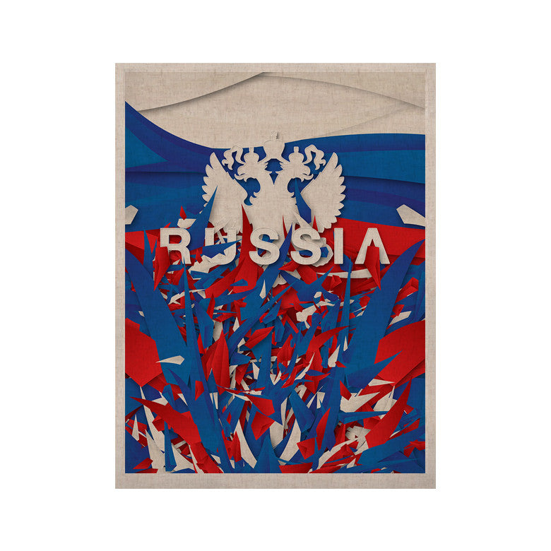 "Danny Ivan ""Russia"" World Cup KESS Naturals Canvas (Frame not Included) - KESS InHouse  - 1"