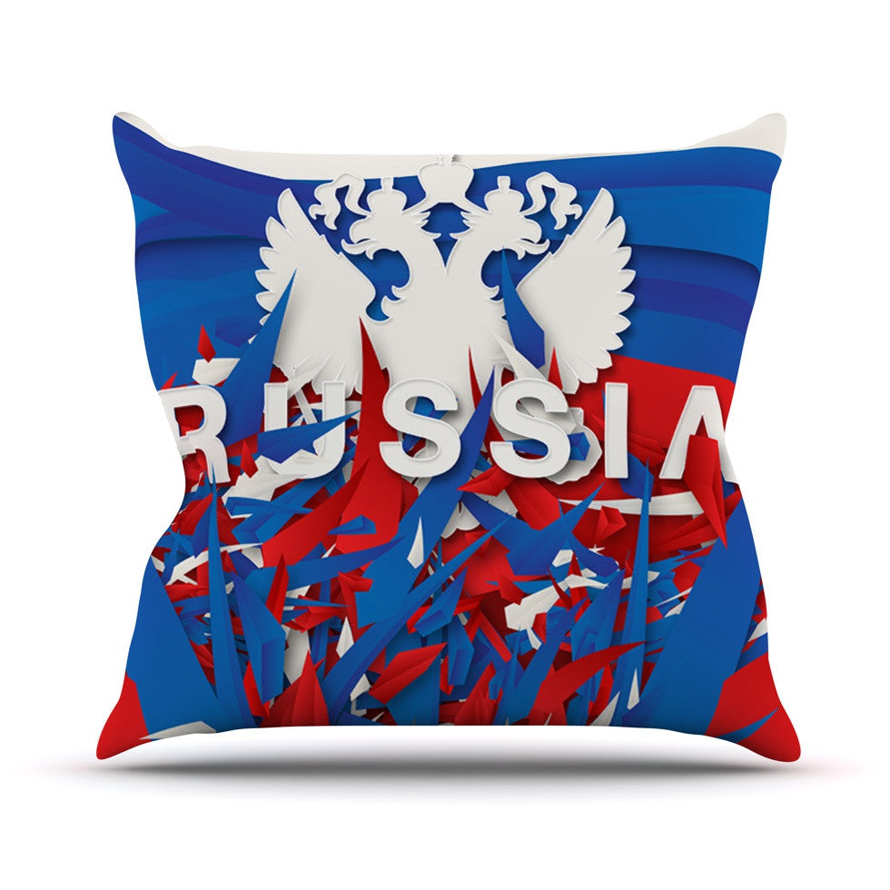 "Danny Ivan ""Russia"" World Cup Outdoor Throw Pillow - KESS InHouse  - 1"