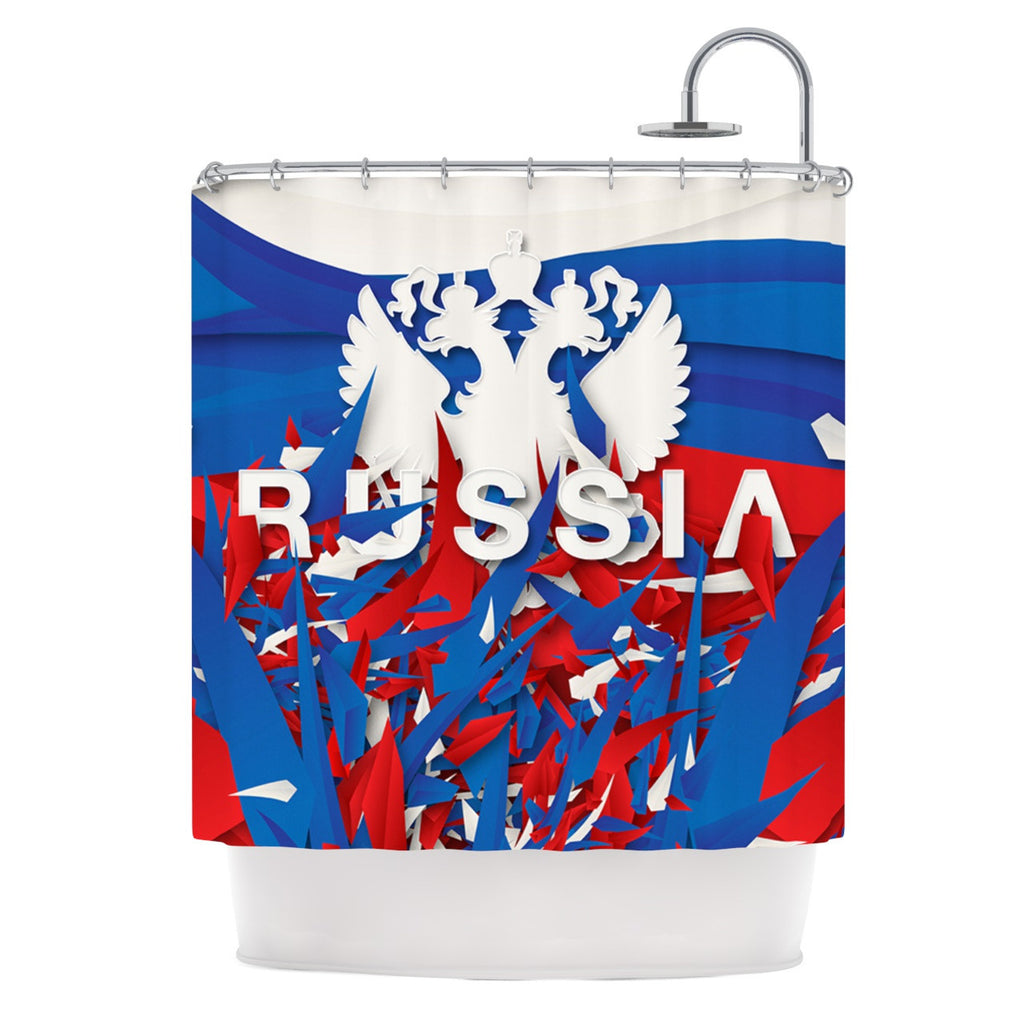 "Danny Ivan ""Russia"" World Cup Shower Curtain - KESS InHouse"