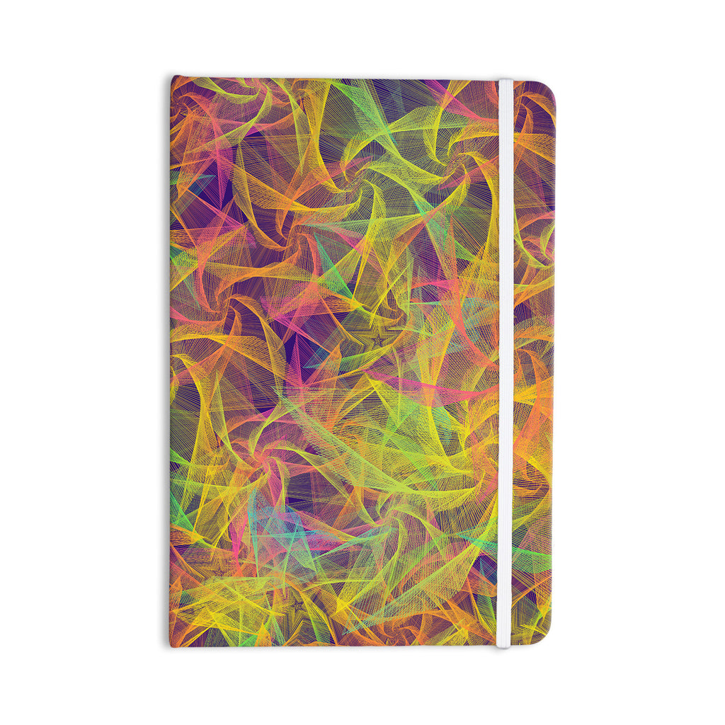 "Danny Ivan ""Blend Everywhere"" Yellow Abstract Everything Notebook - KESS InHouse  - 1"