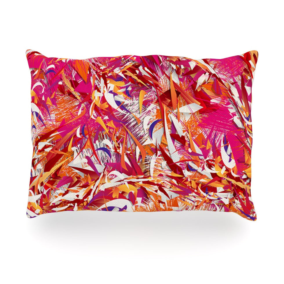 "Danny Ivan ""You"" Red Pink Oblong Pillow - KESS InHouse"