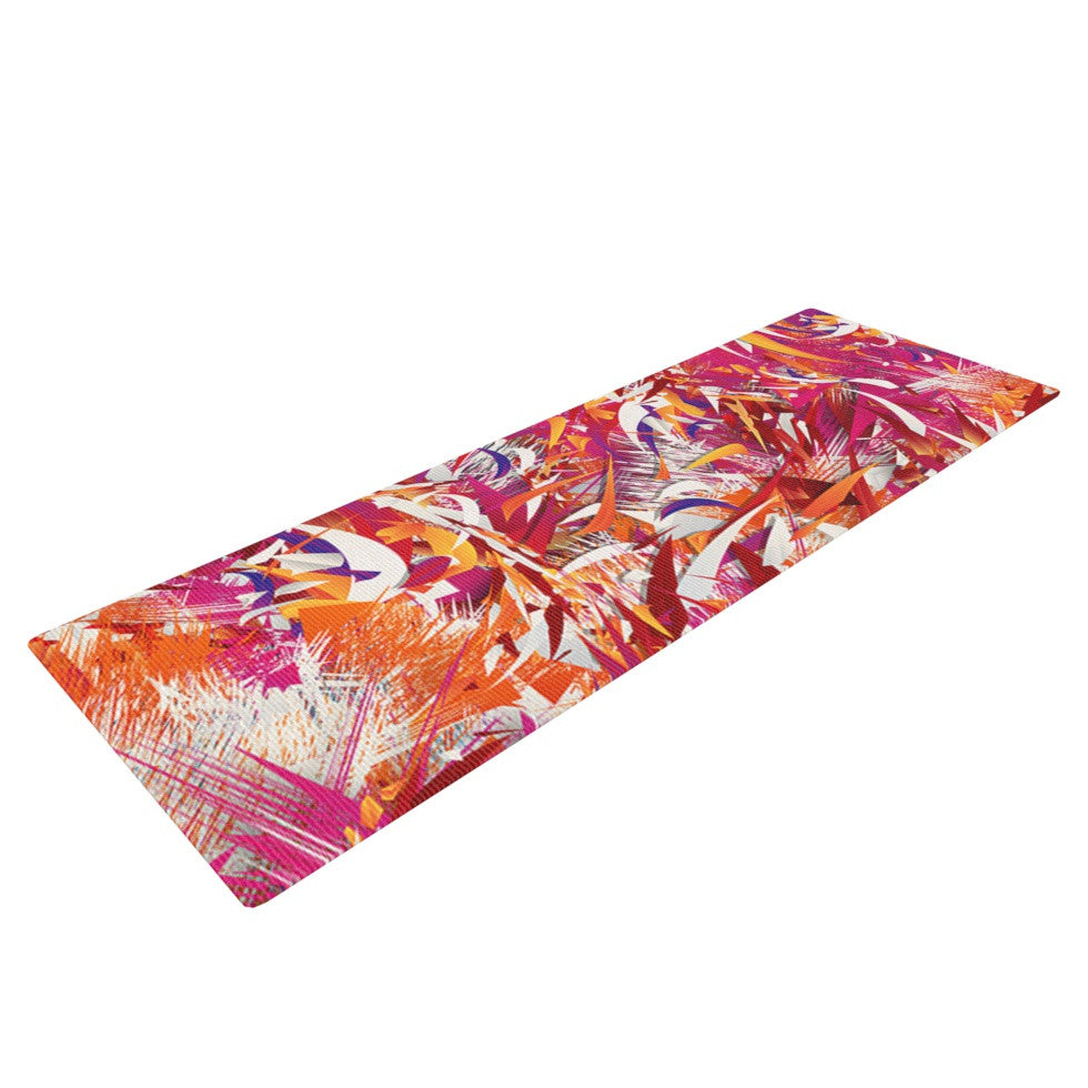 "Danny Ivan ""You"" Red Pink Yoga Mat - KESS InHouse  - 1"