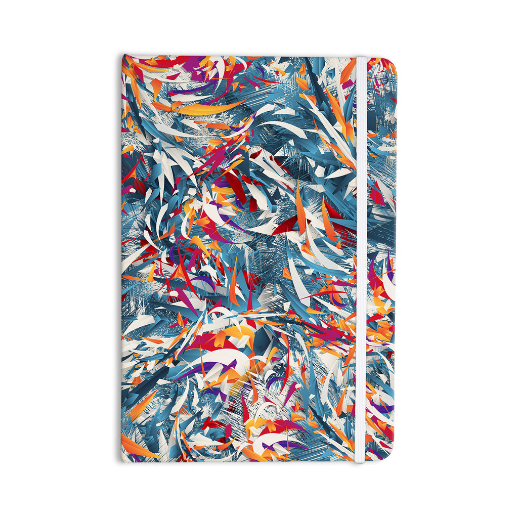 "Danny Ivan ""Excited Colours"" Blue Abstract Everything Notebook - KESS InHouse  - 1"