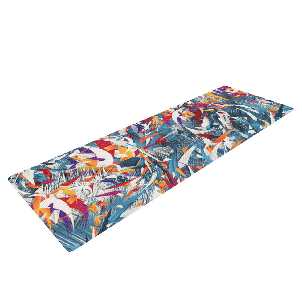 "Danny Ivan ""Excited Colours"" Blue Abstract Yoga Mat - KESS InHouse  - 1"
