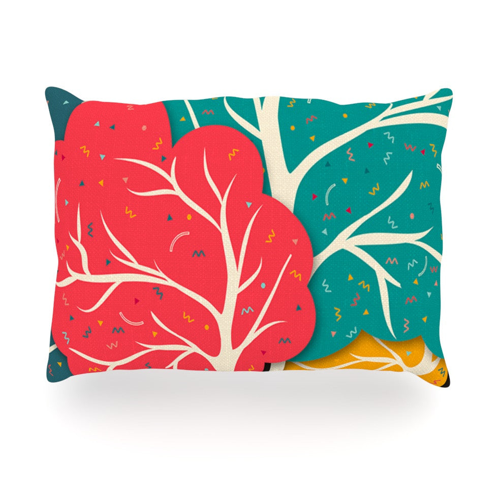 "Danny Ivan ""Happy Forest"" Trees Oblong Pillow - KESS InHouse"