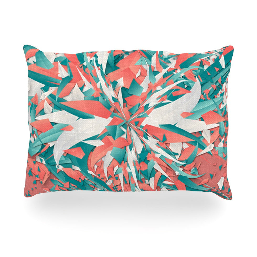 "Danny Ivan ""Like Explosion"" Pink Teal Oblong Pillow - KESS InHouse"