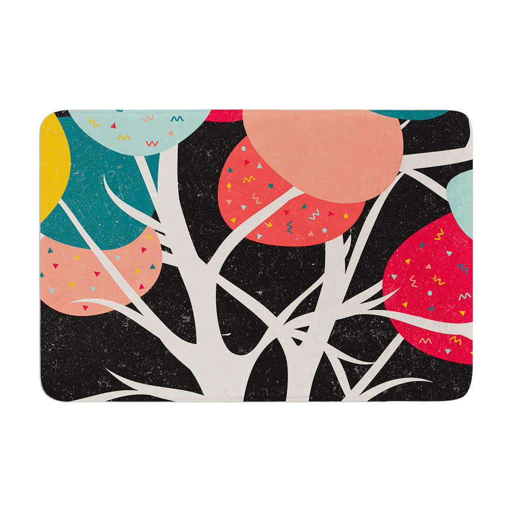 "Danny Ivan ""Lovely Tree"" Branches Memory Foam Bath Mat - KESS InHouse"