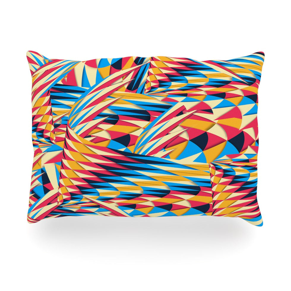 "Danny Ivan ""Painting Life"" Abstract Oblong Pillow - KESS InHouse"