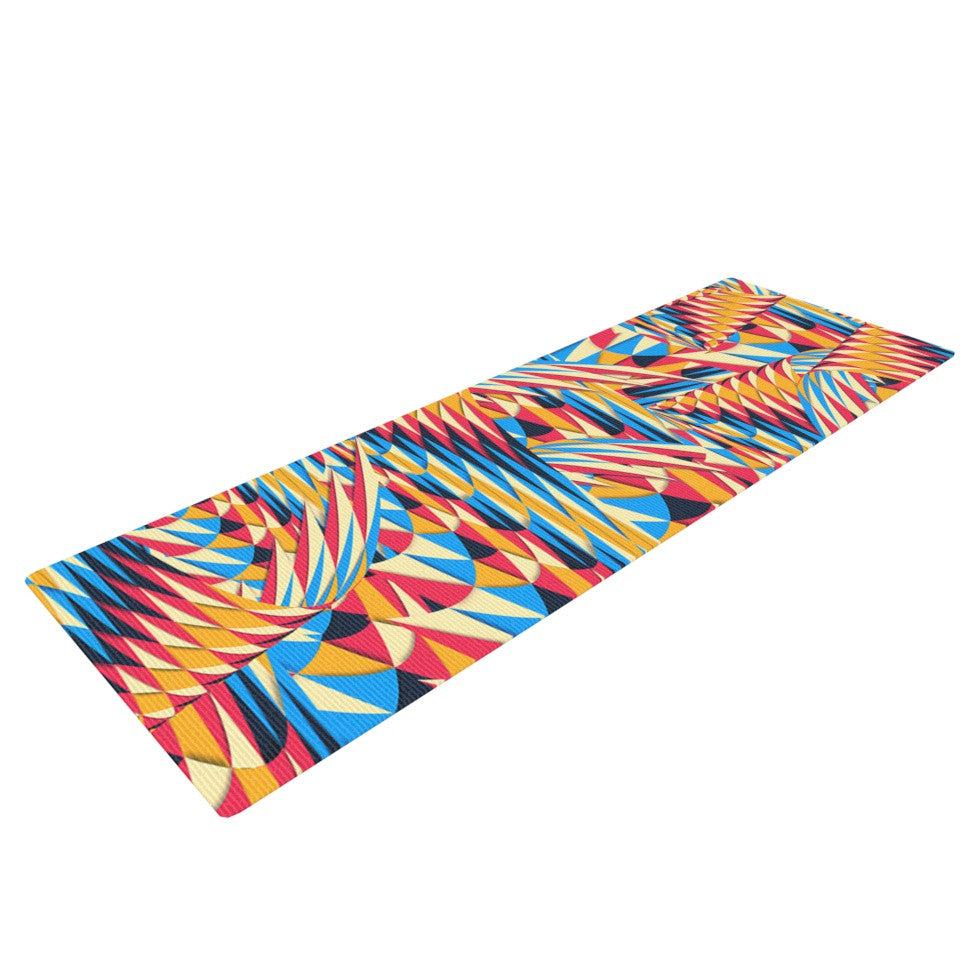 "Danny Ivan ""Painting Life"" Abstract Yoga Mat - KESS InHouse  - 1"