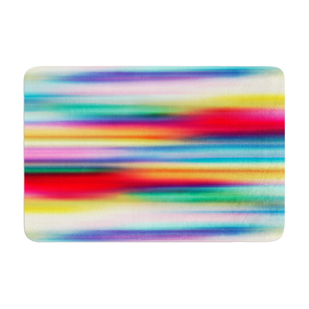 "Danny Ivan ""Blurry Cool"" Rainbow Blur Memory Foam Bath Mat - KESS InHouse"