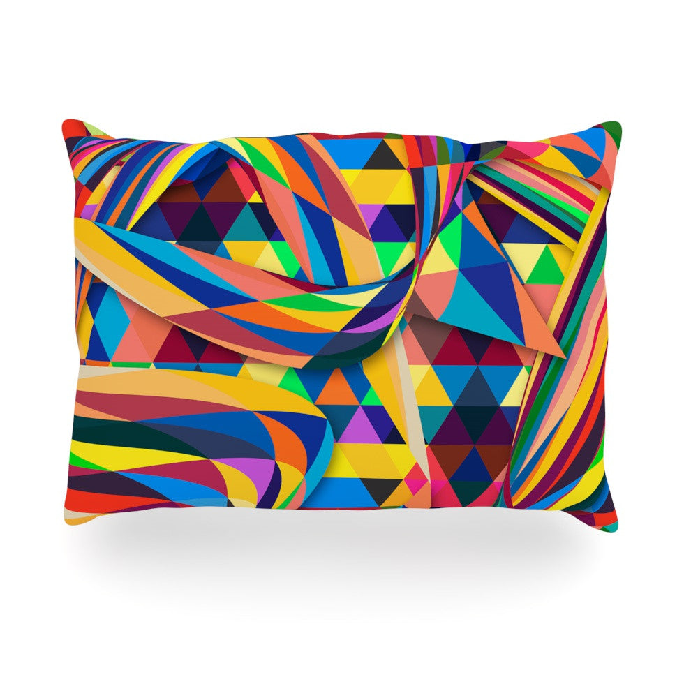 "Danny Ivan ""The Optimist"" Geometric Multicolor Oblong Pillow - KESS InHouse"