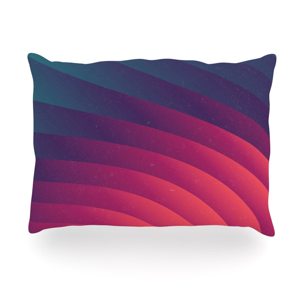 "Danny Ivan ""Reservoir Lines"" Pink Geometric Oblong Pillow - KESS InHouse"