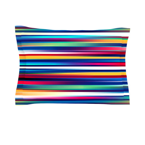 "Danny Ivan ""Blurry Lines"" Multicolor Pillow Sham - Outlet Item"