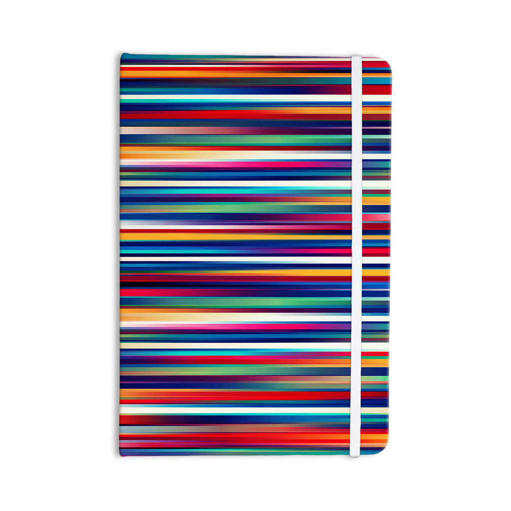 "Danny Ivan ""Blurry Lines"" Multicolor Everything Notebook - KESS InHouse  - 1"