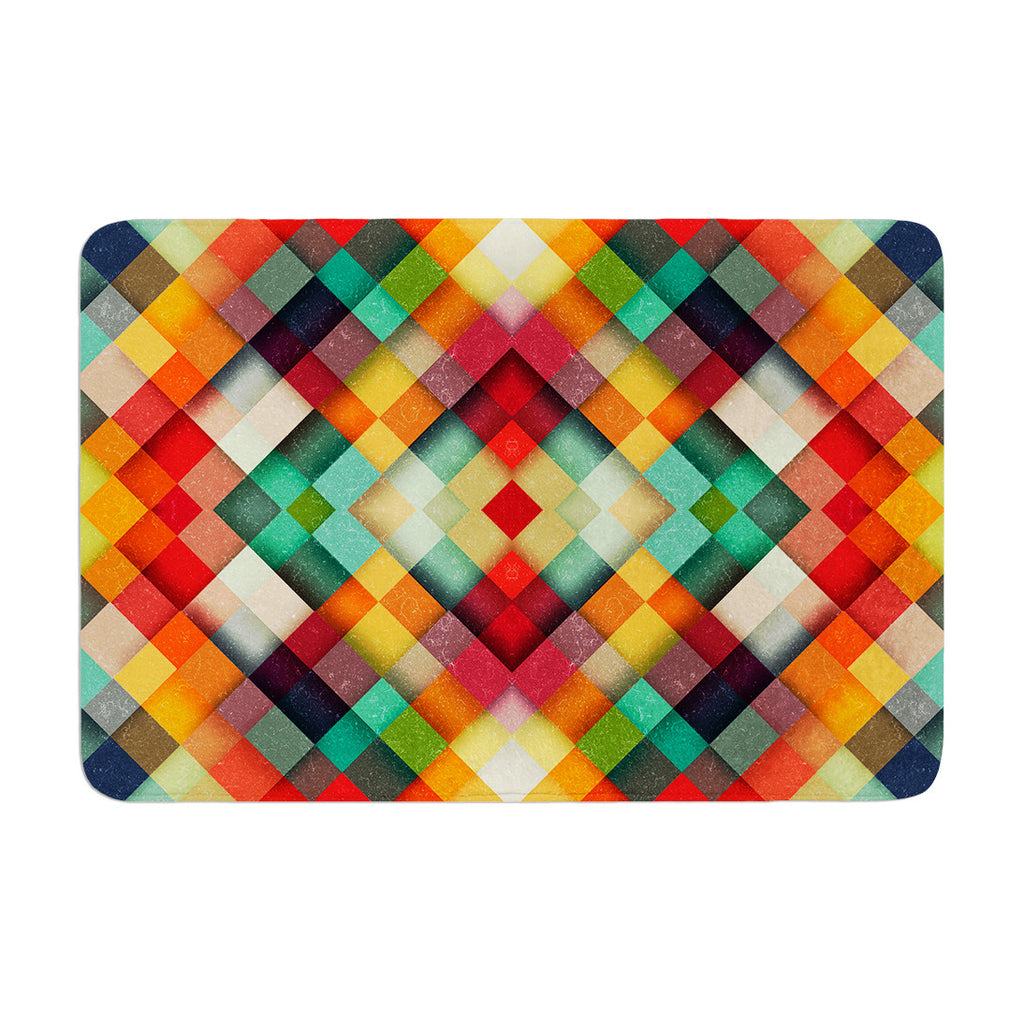 "Danny Ivan ""Time Between"" Geometric Abstract Memory Foam Bath Mat - KESS InHouse"