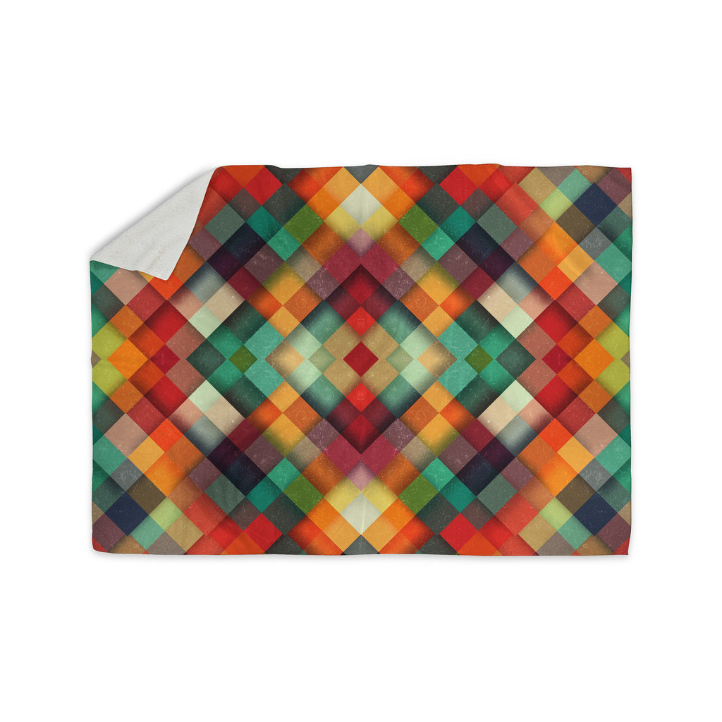 "Danny Ivan ""Time Between"" Geometric Abstract Sherpa Blanket - KESS InHouse  - 1"