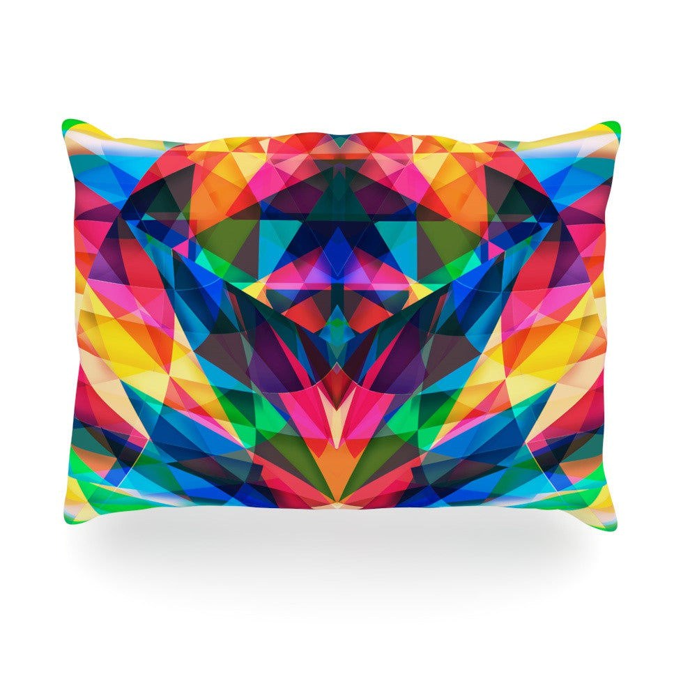 "Danny Ivan ""Day We Met"" Rainbow Geometric Oblong Pillow - KESS InHouse"