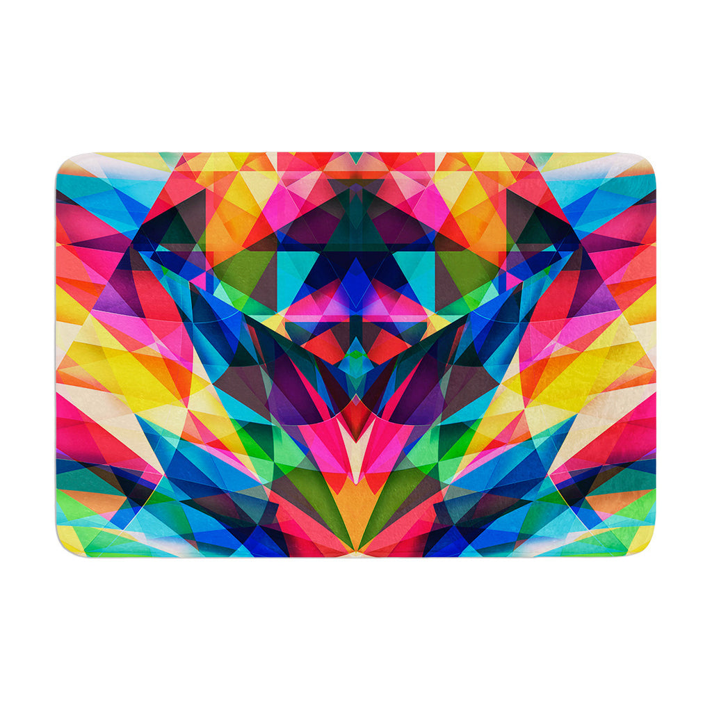 "Danny Ivan ""Day We Met"" Rainbow Geometric Memory Foam Bath Mat - KESS InHouse"