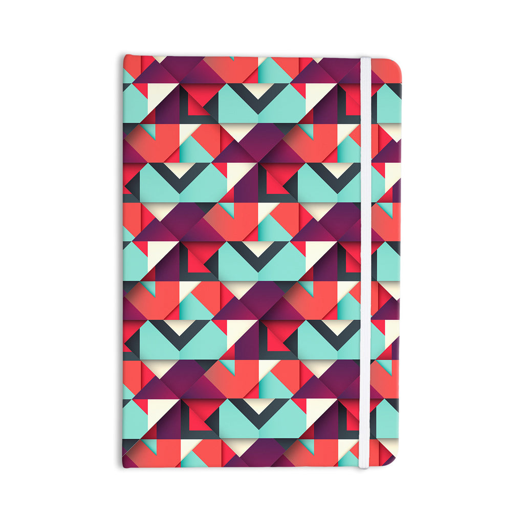 "Danny Ivan ""Shapes"" Aqua Purple Everything Notebook - KESS InHouse  - 1"