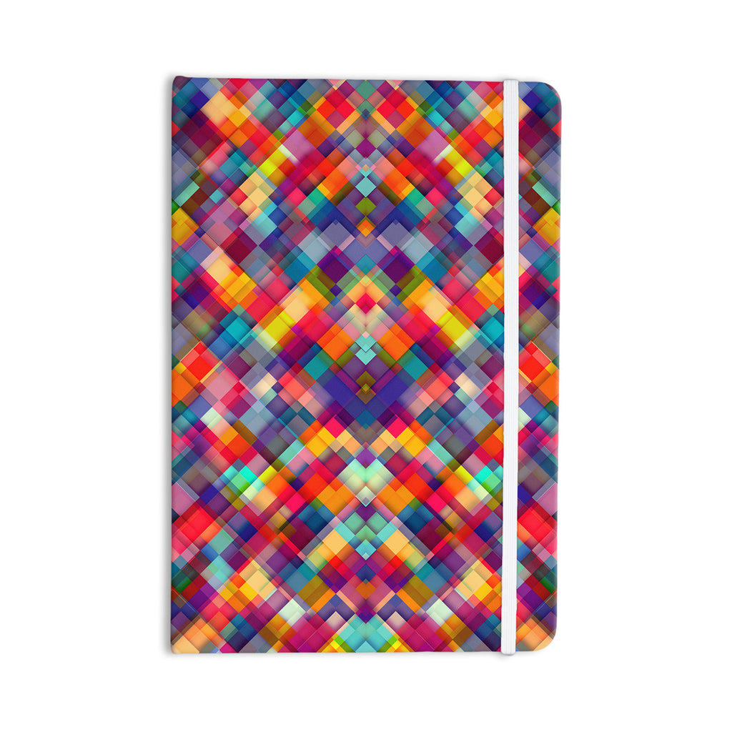 "Danny Ivan ""Squares Everywhere"" Rainbow Shapes Everything Notebook - KESS InHouse  - 1"