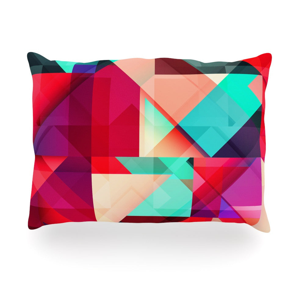"Danny Ivan ""Still New"" Red Pink Oblong Pillow - KESS InHouse"