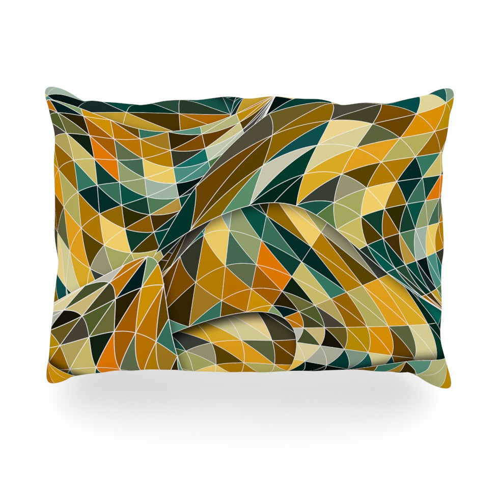 "Danny Ivan ""Bring You Back"" Yellow Teal Oblong Pillow - KESS InHouse"