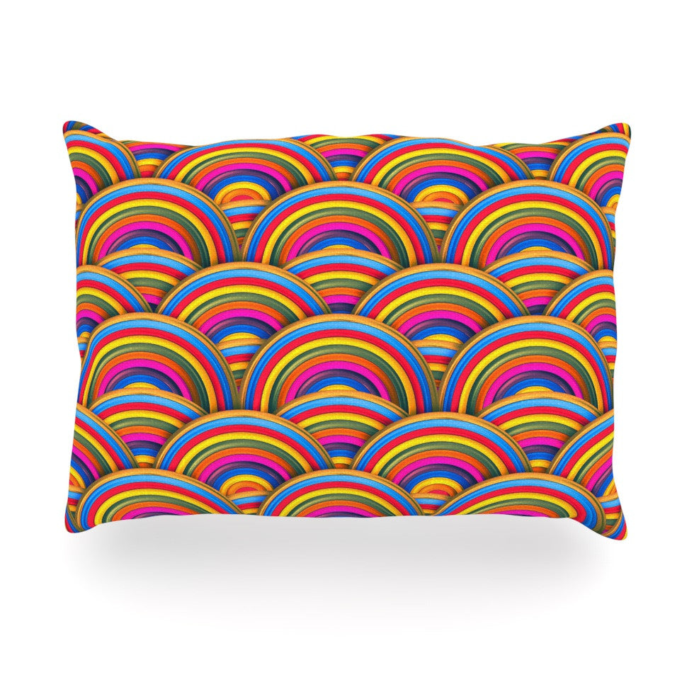 "Danny Ivan ""Rainbows"" Multicolor Oblong Pillow - KESS InHouse"