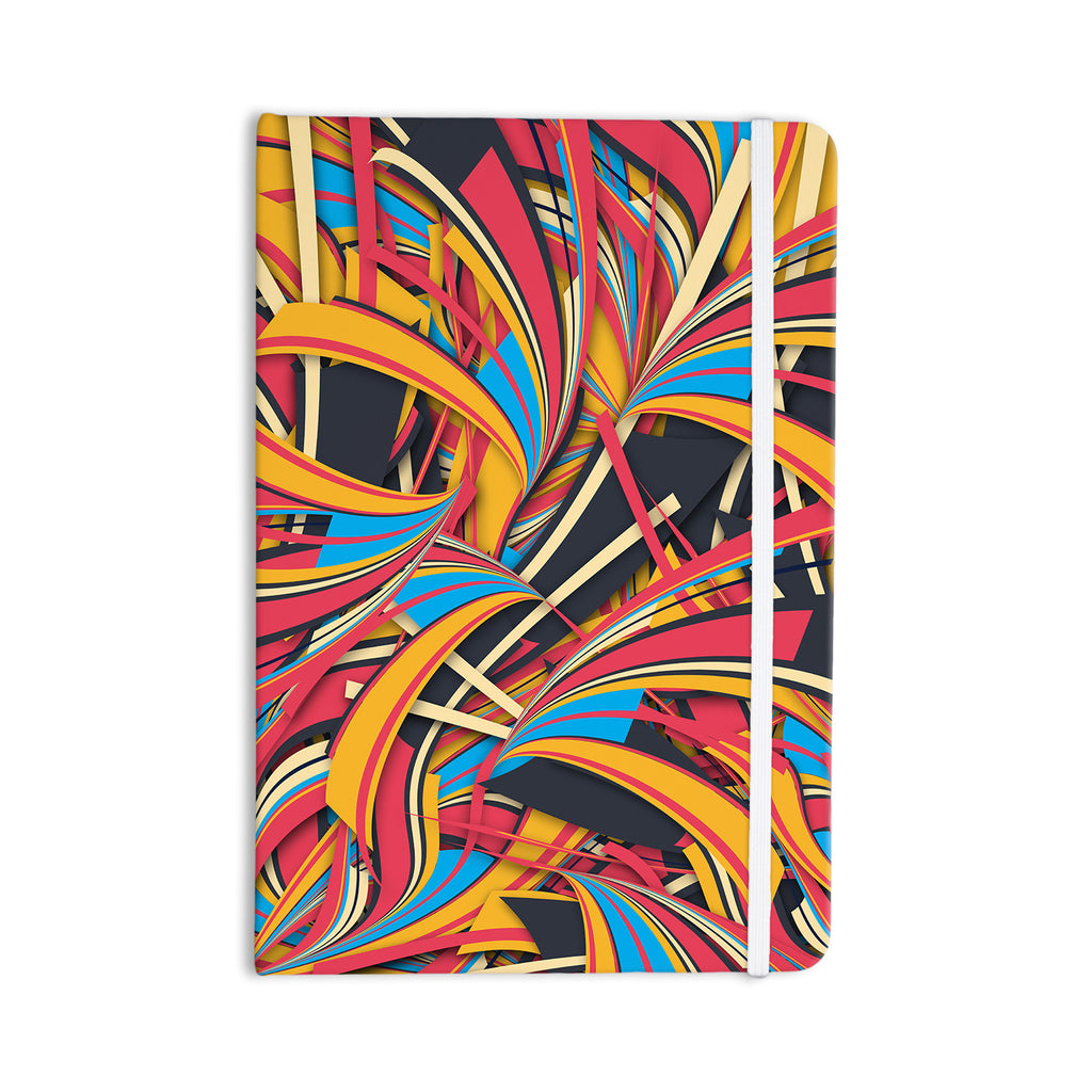 "Danny Ivan ""Slippery Slope"" Orange Blue Everything Notebook - KESS InHouse  - 1"