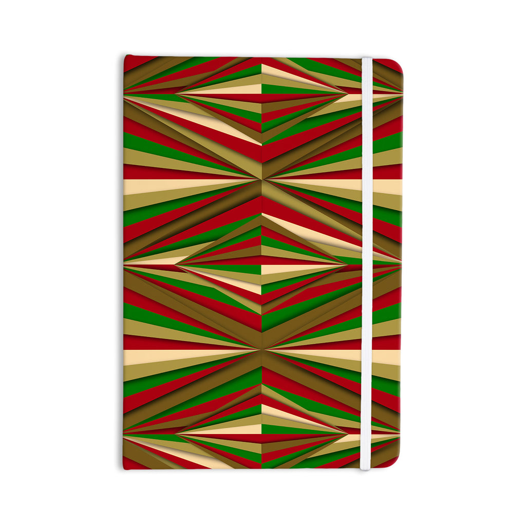 "Danny Ivan ""Christmas Pattern"" Red Green Everything Notebook - KESS InHouse  - 1"