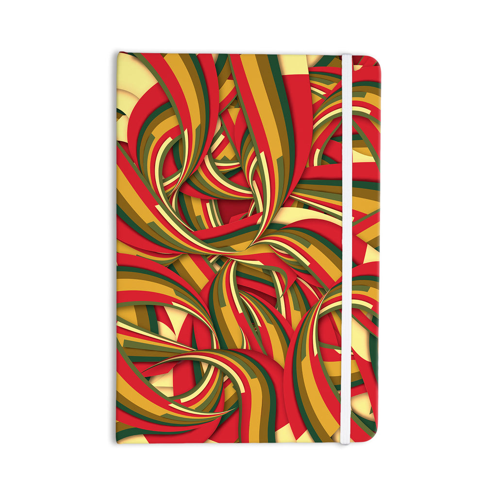 "Danny Ivan ""Excited Christmas"" Red Orange Everything Notebook - KESS InHouse  - 1"