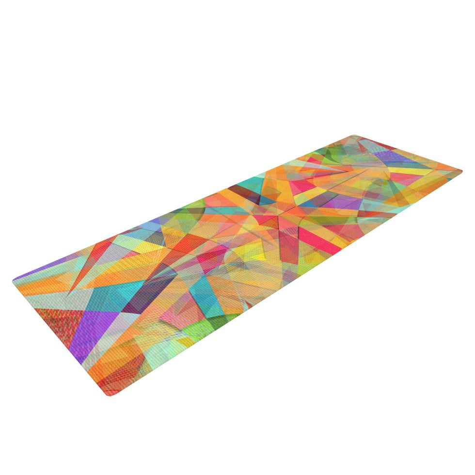 "Danny Ivan ""Star"" Geometric Multicolor Yoga Mat - KESS InHouse  - 1"