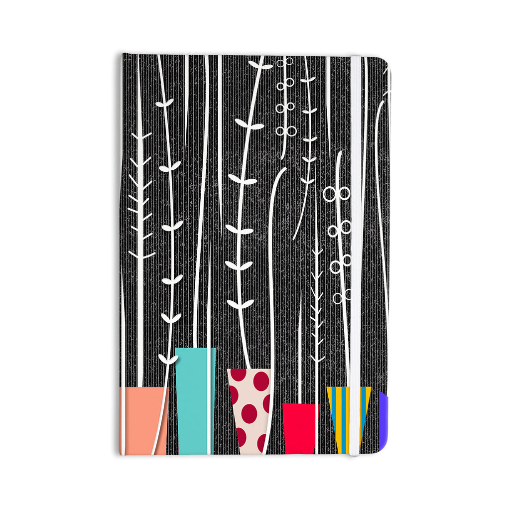 "Danny Ivan ""Wild Plants"" Black White Everything Notebook - KESS InHouse  - 1"