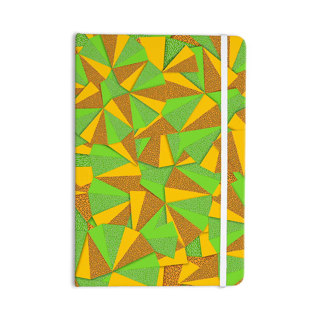 "Danny Ivan ""This Side"" Green Yellow Everything Notebook - KESS InHouse  - 1"
